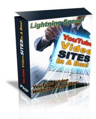 Product picture YouTube Video Sites Generator . Master Resale Rights Include