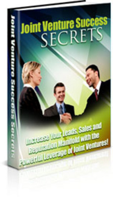 Product picture *NEW* Joint Venture Success Secrets WIth MRR